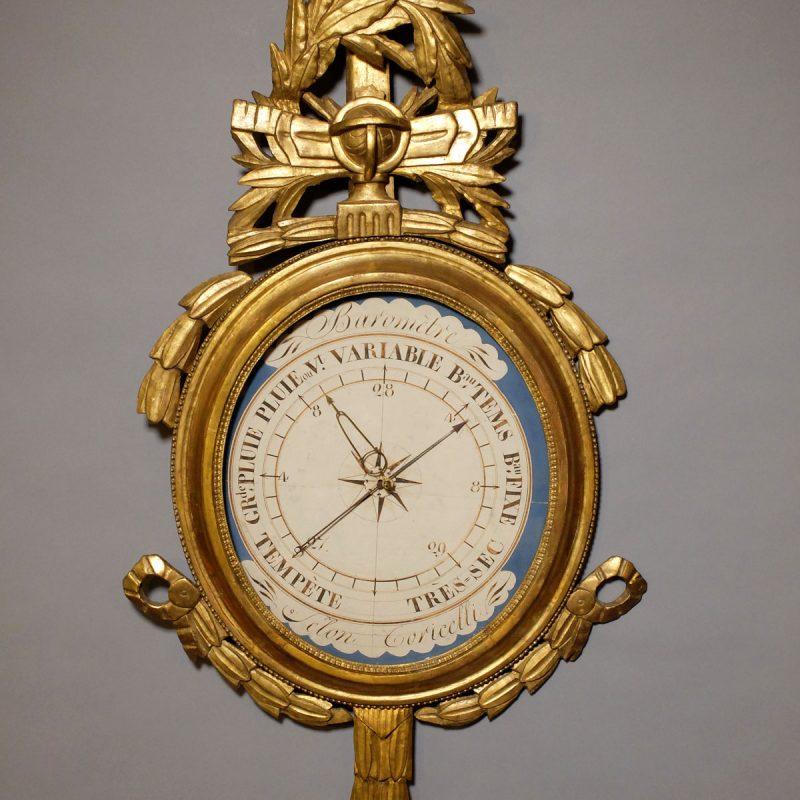 Baromètre médaillon d'époque Louis XVI