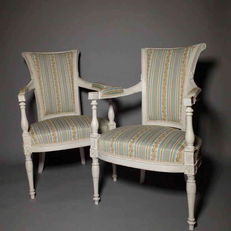 Paire fauteuils Directoire