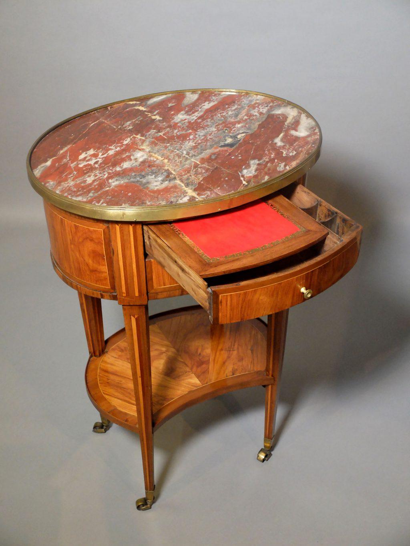 Table chiffonnière Louis XVI