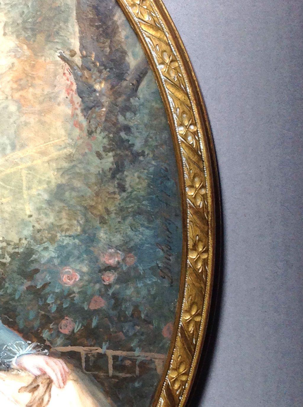 Miniature XVIIIème signée Dubourg