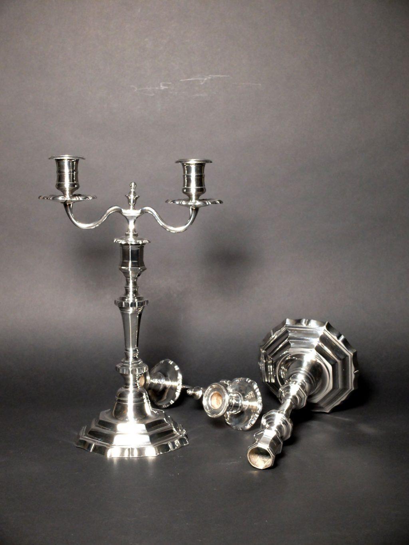 Candélabres bouts de table d'époque XVIIIème